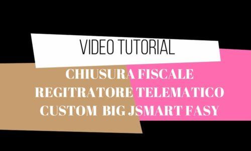 Video tutorial come effettuare la chiusura telematica con il registratore telematico custom